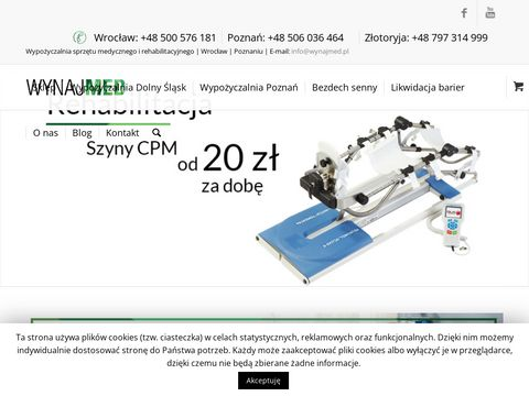 Wynajmed.pl łóżko rehabilitacyjne Wrocław