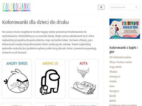 Kolorowanki.info.pl najlepsze kolorowanki