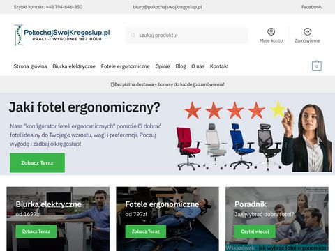 Pokochajswojkregoslup.pl fotele ergonomiczne