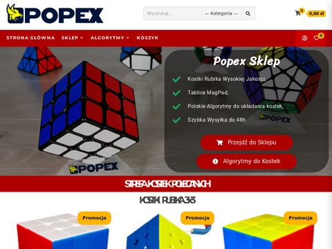 Kostki.popex.pl - sklep - kostki rubika, zabawki