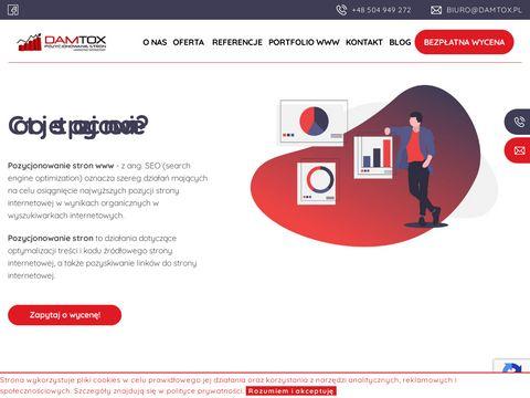 Damtox.pl pozycjonowanie i tworzenie stron www