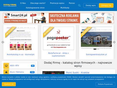Dodaj-firme.com.pl - katalog stron firmowych