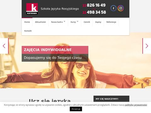 Katiusza.edu.pl rosyjski Warszawa