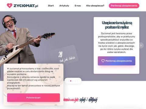 Zyciomat.pl ubezpieczenie na życie, polisa