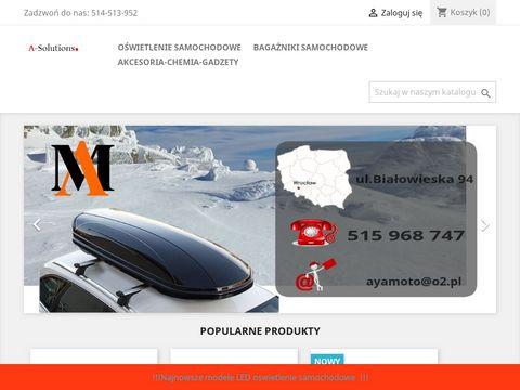 Auto-solutions.pl bagażniki dachowe oświetlenie
