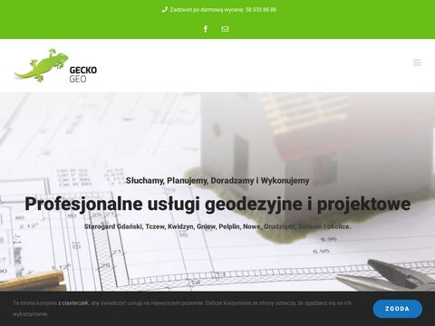 GeckoGeo.pl - usługi geodezyjne na Pomorzu