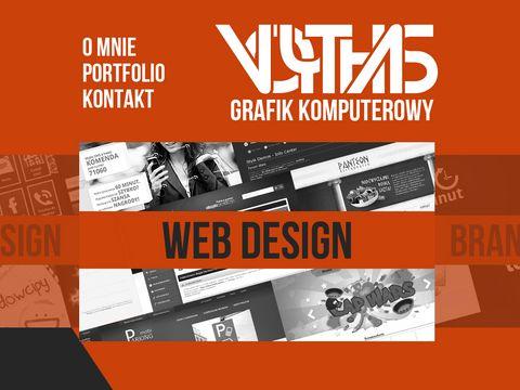 Pl.voythas.com portfolio grafika UI