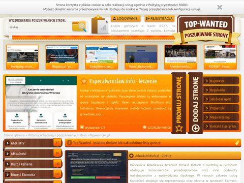 Top-wanted.pl - poszukiwane strony