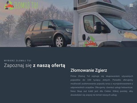 Zlomujtu.pl złomowanie pojazdów Łódź