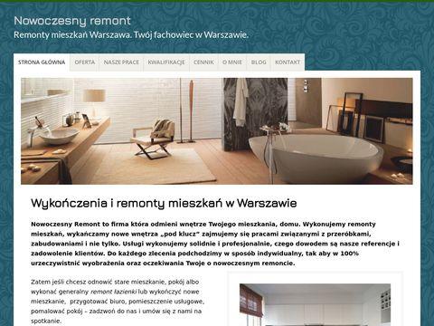 Nowoczesnyremont.pl wykończenie mieszkań