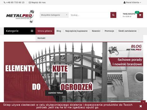 Sklep.metalpro.pl - elementy kute